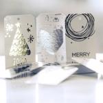 Комплект бирок новогодних 8,5*5 см MIX Silver