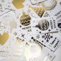 Комплект бирок новогодних 8,5*5 см MIX Gold
