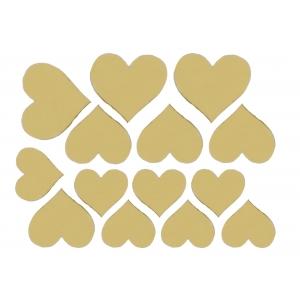 Декоративные сердечки (Цвет : Золото)