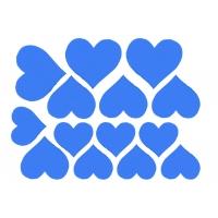 Декоративные сердечки (Цвет : Синий)