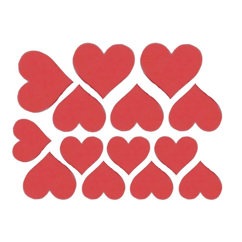 Декоративные сердечки (Цвет : Красный)