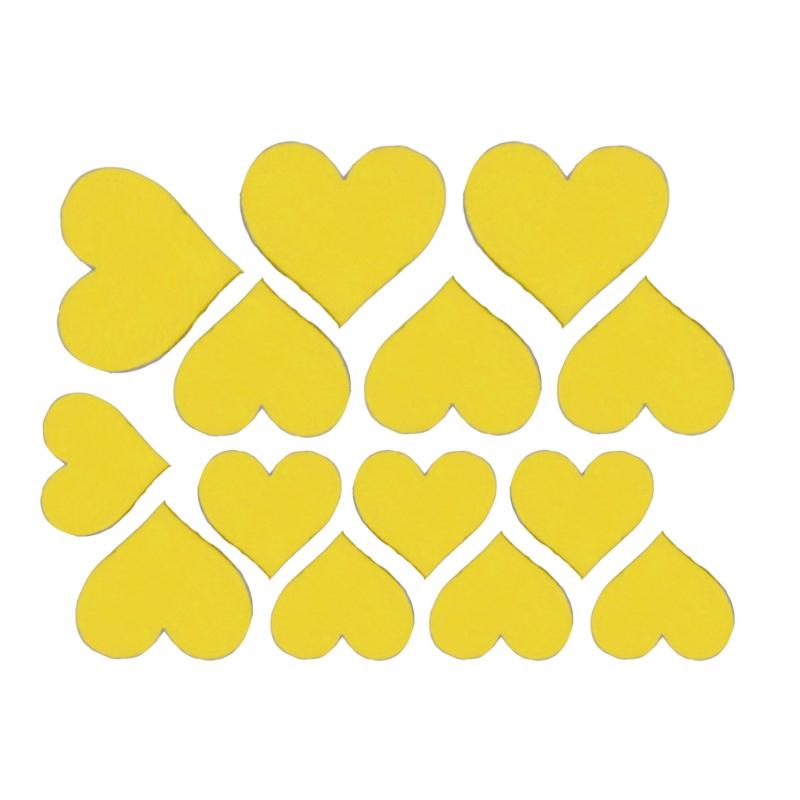 Декоративные сердечки (Цвет : Желтый)