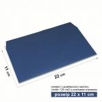 Конверт 22*11 см синий