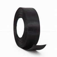 Декоративная атласная лента black