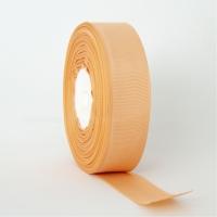Декоративная репсовая лента персиковая