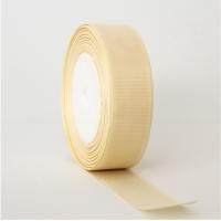 Декоративная репсовая лента crema