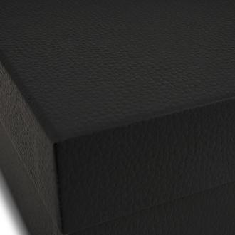 Подарочная черная коробочка из картона 23x23x10 см
