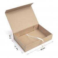 Коробка 24x17x6 см Kraft