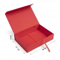 Коробка 24x17x6 см red