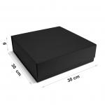 Коробка 30 x 30 x 9 см black