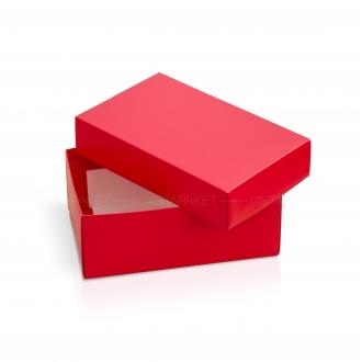 Подарочная красная коробочка из картона 23x14x9 см