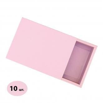 Розовая подарочная коробочка из картона с шубером