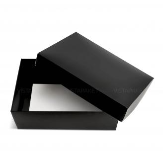 Подарочная черная коробочка из картона 23x14x9 см