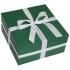 Подарочная зеленая коробочка из дизайнерского картона