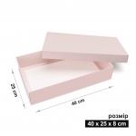 Коробка 40 x 25 x 8 см пудрово-розовая
