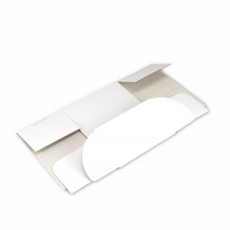 Белая коробочка из гофрокартона 17x12x10 см