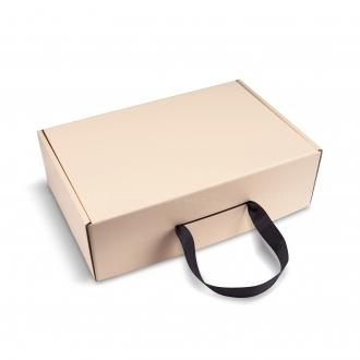 Черная коробочка из гофрокартона 24x36x11 см