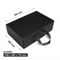 Коробка 24x36x11 см черная с лентой