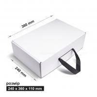 Коробка 24x36x11 см белая с лентой