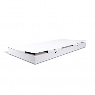 Белая коробочка из гофрокартона 65x26x4 см