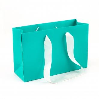 Пакет бумажный цветной, мятный цвет