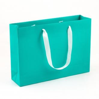 Пакет горизонтальный мятного цвета, для одежды