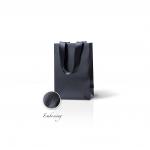 Пакет бумажный 15*23*8 см черный Emboss, структура 18