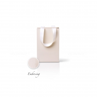 Пакет бумажный 15*23*8 см кремовый Emboss, структура 12