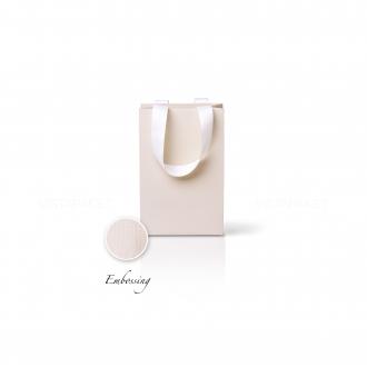 Пакет бумажный 15*23*8 см кремовый Emboss