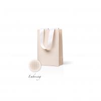 Пакет бумажный 15*23*8 см кремовый Emboss, структура 18