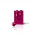 Пакет паперовий 15*23*8 см бордовий Emboss, структура 12