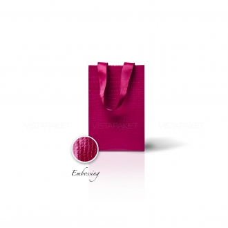 Пакет бумажный 15*23*8 см винный Emboss
