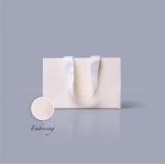 Пакет паперовий 23*15*8 см кремовий Emboss, структура 12