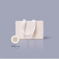 Пакет бумажный 23*15*8 см кремовый Emboss, структура 18