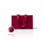 Пакет паперовий 23*15*8 см бордовий Emboss, структура 12