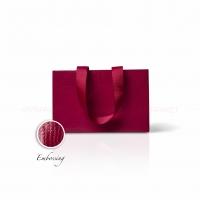 Пакет бумажный 23*15*8 см винный Emboss, структура 12