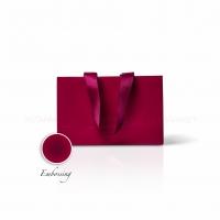 Пакет бумажный 23*15*8 см винный Emboss, структура 18