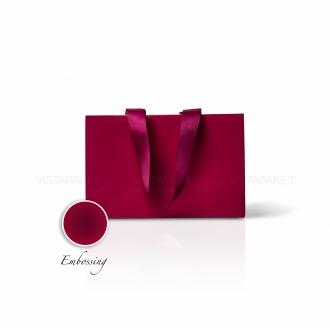 Пакет бумажный 23*15*8 см винный Emboss
