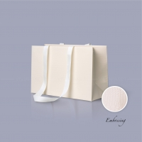Пакет бумажный 38*24*14 см бежевый Emboss, структура 12