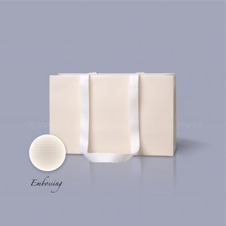 Пакет бумажный 38*24*14 см бежевый Emboss