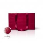 Пакет бумажный 38*24*14 см винный Emboss, структура 12