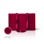 Пакет паперовий 38*24*14 см бордовий Emboss, структура 18