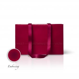 Пакет бумажный 38*24*14 см винный  Emboss