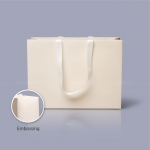 Пакет бумажный 45*33*15 см бежевый Emboss, структура 12