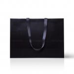 Пакет бумажный 45*33*15 см черный Emboss, структура 18