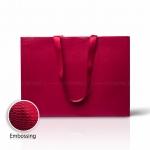 Пакет паперовий 45*33*15 см бордовий Emboss, структура 12