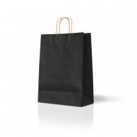 Пакет крафтовый 25x35х9 см черный