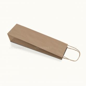 Пакет крафтовый под бутылку с ручками