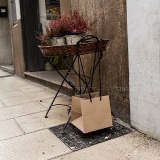 Пакет крафт картонный подарочный с ручками-шнурочками
