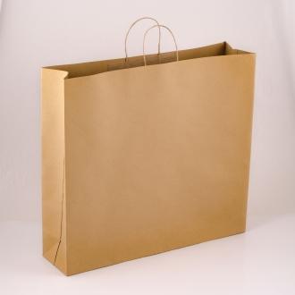 Пакет бурый крафтовый подарочный с ручками